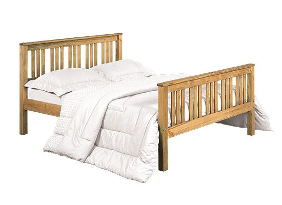 LPD Shaker Antique Pine Bed Frame - Single, Double or King