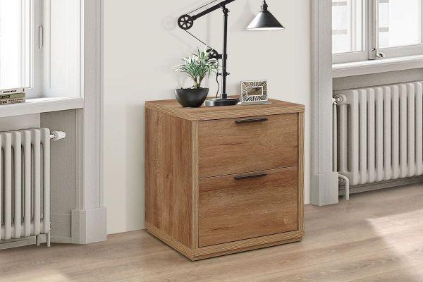Birlea Stockwell 2-Drawer Bedside Table - Rustic Oak