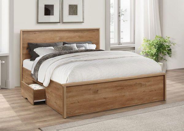 Birlea Stockwell Rustic Oak 2-Drawer Bed - 3 Sizes