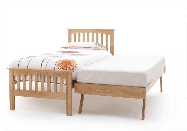Windsor Oak Wood Bed & Guest Bed