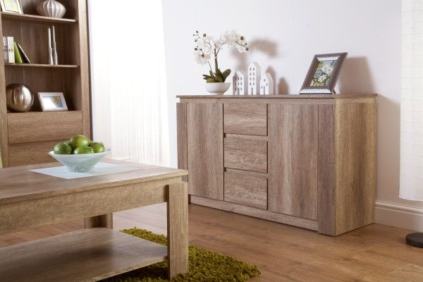 Canyon Grey Oak Storage Sideboard