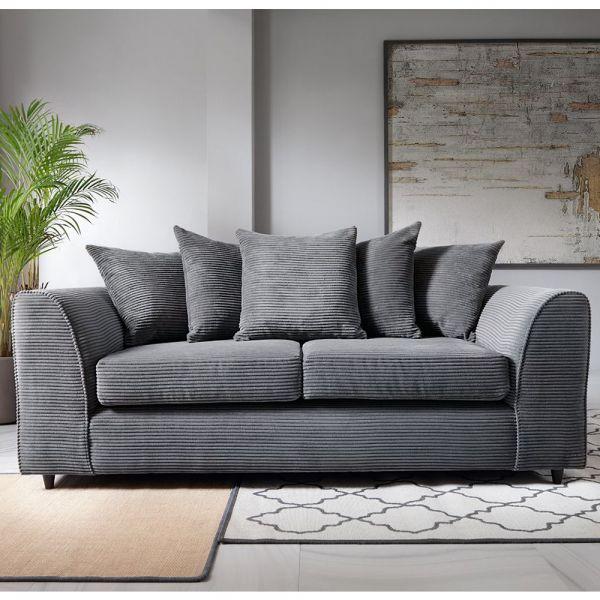 Jill Jumbo 3 Seater Sofa - Blue, Brown, Grey