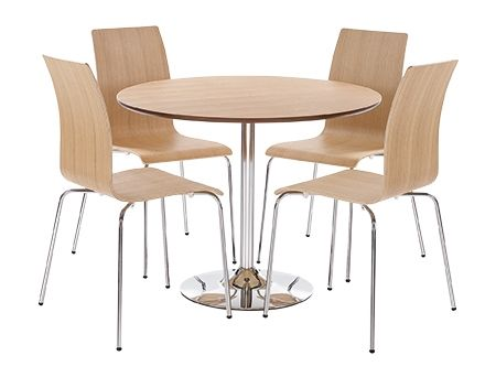LPD Soho Bentwood Dining Table & Chairs Set - Oak