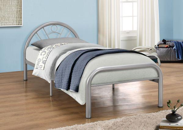 Birlea Solo 90cm Single Silver Metal Bed
