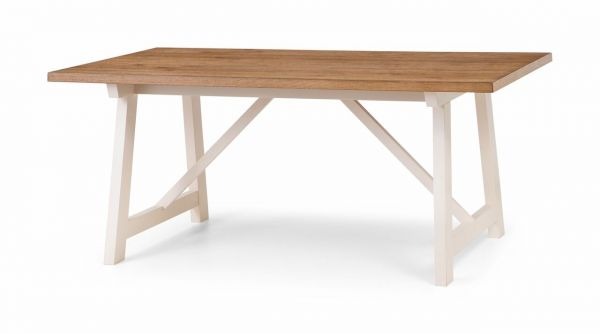 Julian Bowen Pembroke Ivory Oak Dining Table