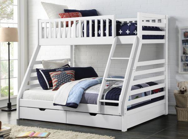 Sweet Dreams States Triple Storage Bunk Bed - White or Grey