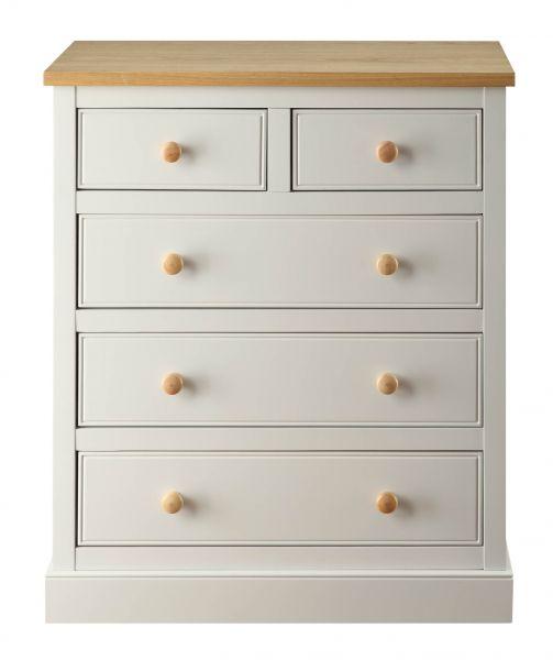 LPD St. Ives 3+2 Drawer Storage Chest - Dove Grey