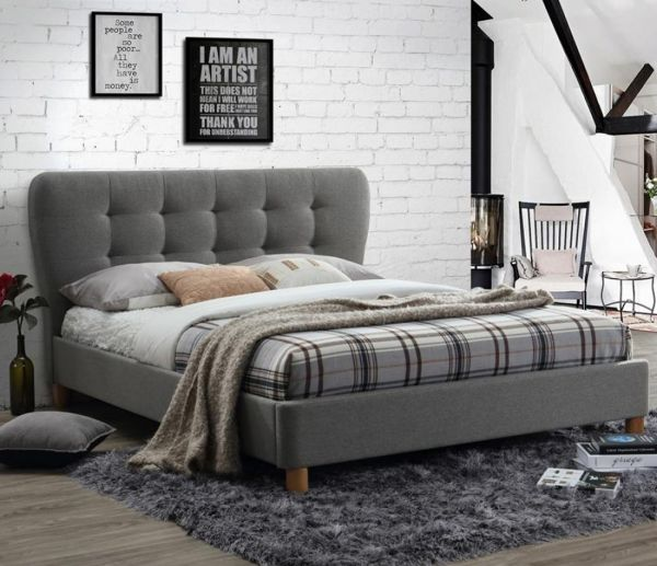 Birlea Stockholm Grey Fabric Bed Frame