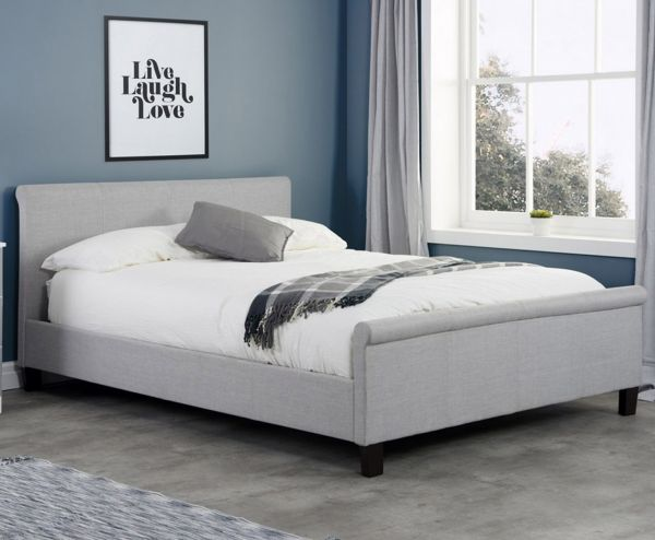 Birlea Stratus Grey Fabric Bed - 3 Sizes