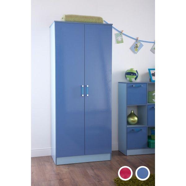 O2Tones 2 Door Wardrobe - Blue or Pink