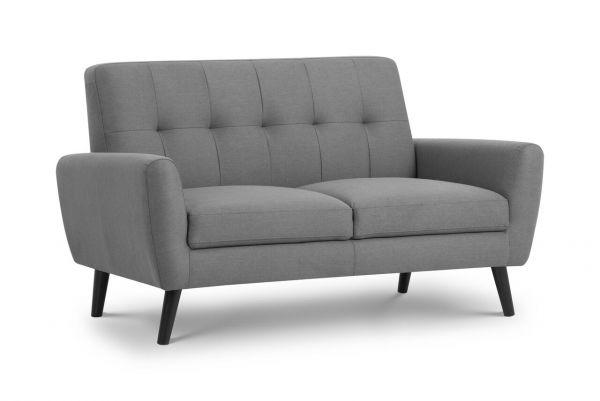 Julian Bowen Monza Grey Fabric Compact 2-Seat Sofa