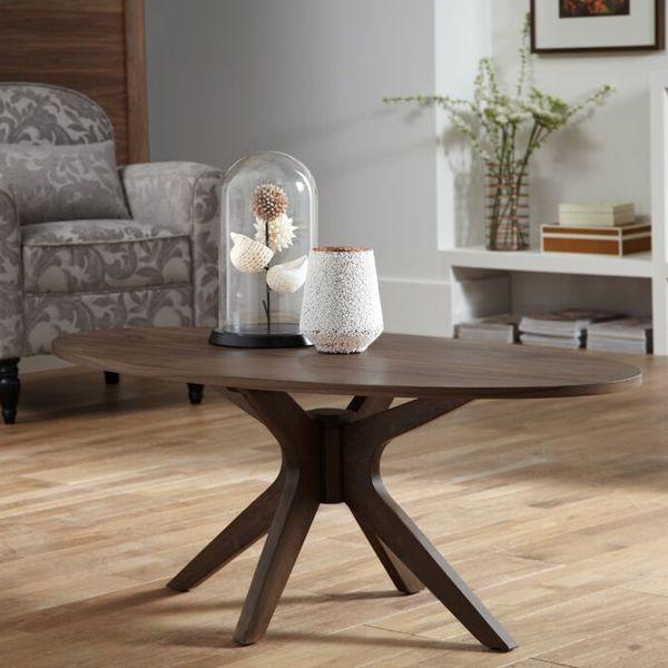 Waltham Walnut Oval Coffee Table