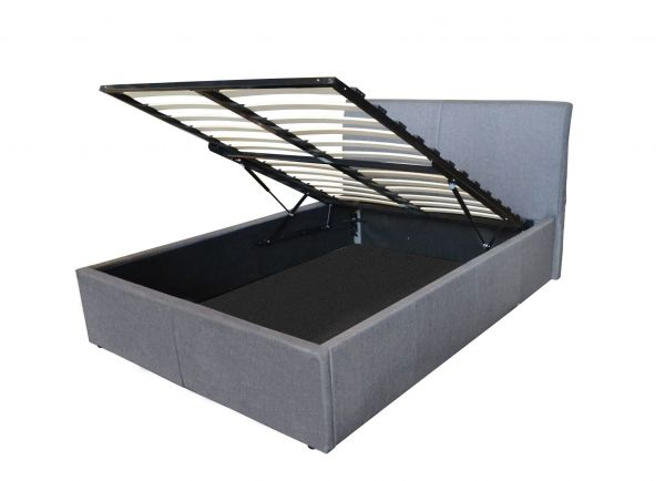 Texas Grey Fabric Ottoman Storage Bed - 4 Sizes
