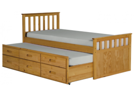 LPD Sleepover Guest Bed - Pine