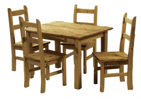 LPD Ecuador Dining Table & Chairs Set - Mexican Pine