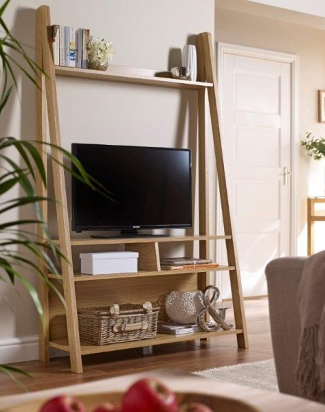 LPD Tiva Ladder TV Stand Unit - Oak or White