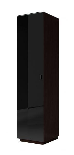 Tyko 1-Door Gloss Wardrobe 50cm - Wenge/Black or White