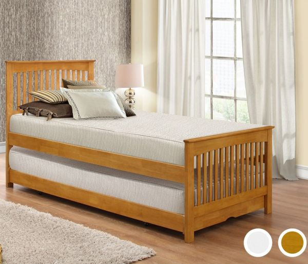 Birlea Toronto 90cm Bed Frame - White or Oak