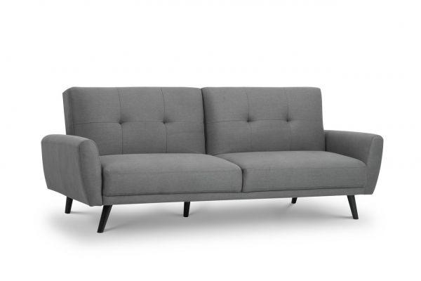 Julian Bowen Monza Grey Fabric Retro Sofa Bed