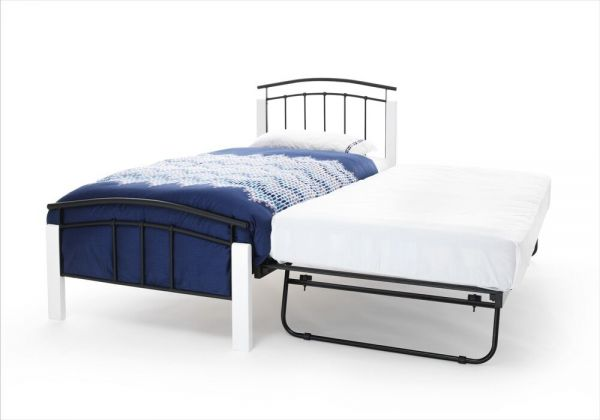 Tetras Metal Single Bed & Guest Bed - Silver or Black