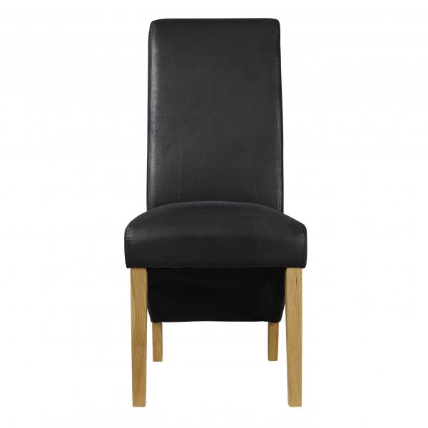 LPD Treviso Faux Leather Dining Chair - Black or Brown