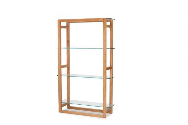 LPD Tribeca Display Bookcase - White Oak