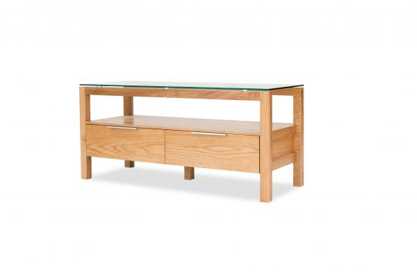 LPD Tribeca 2 Drawer TV Stand Unit - White Oak