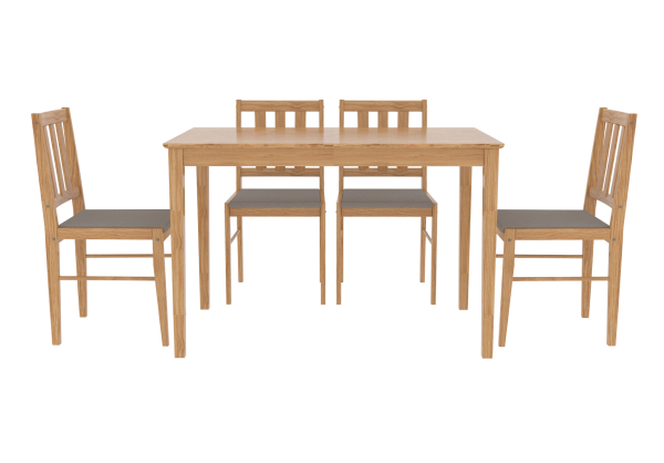 LPD Trinity Dining Table & Chairs Set - Oak