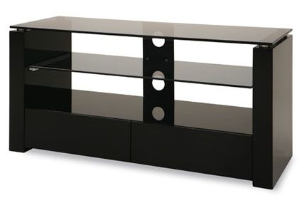 Harley 3-Shelf 2-Drawer TV Stand - Black