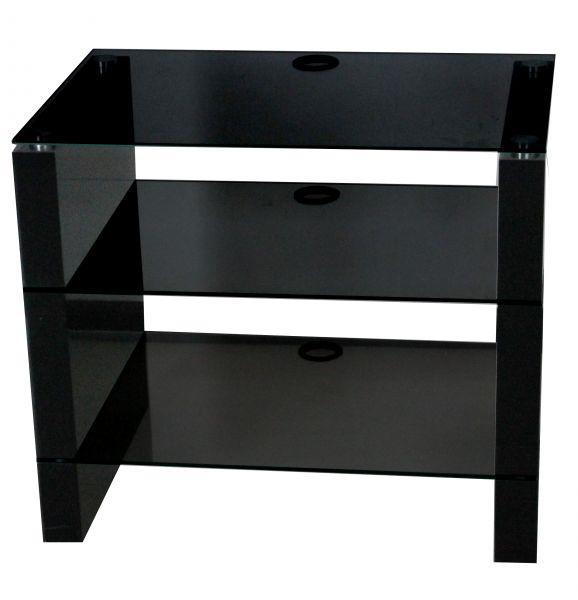 Element 3-Tier Glass Black Gloss TV Stand