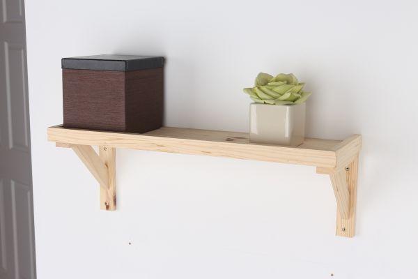 Natural Wood Framed Floating Display Shelf Kit - 2 Sizes