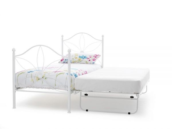 Daisy White Metal Bed & Guest Bed