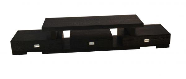 Tokyo 3-Drawer Long Black TV Stand