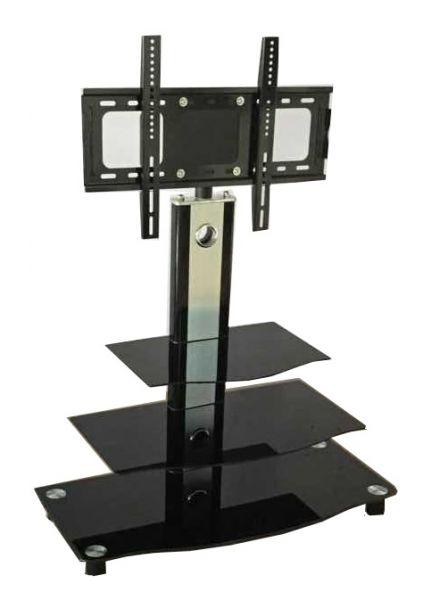 Echo 3-Shelf TV Stand with Bracket - Black