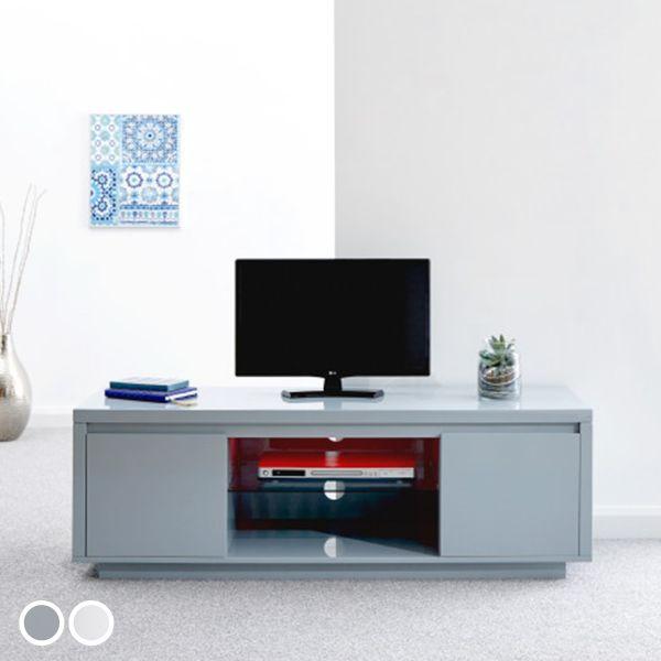 Polar High Gloss LED Large TV Unit - 2 Colours