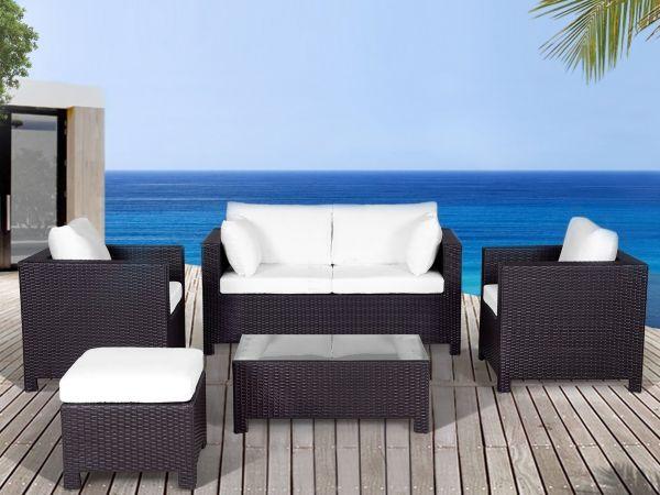Milno 5PC Rattan Garden Sofa Set - Brown or Grey