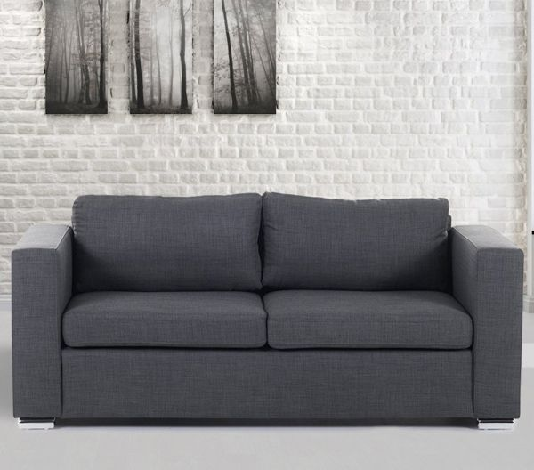 Helsin Fabric Sofa with 3 Seater - Grey