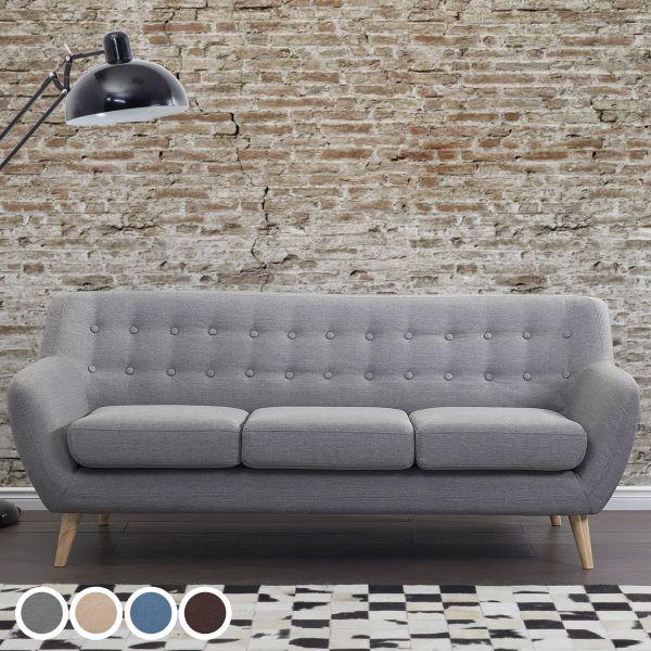 Motoli Fabric Sofa with 3 Seater - 4 Colours