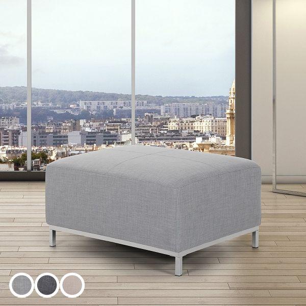 Islo Fabric Ottoman - Light Grey, Dark Grey or Beige