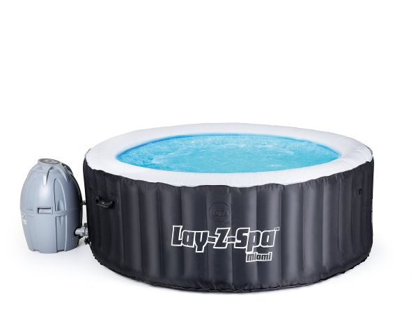 Miami LayZ Inflatable Whirlpool Spa Tub
