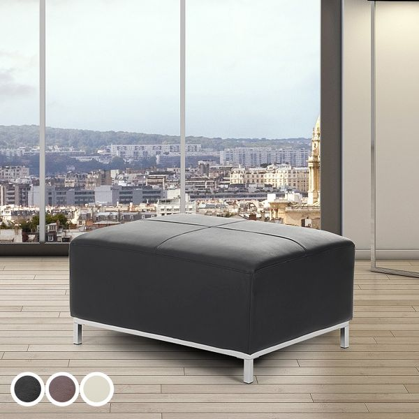 Islo Leather Ottoman - Black, Beige or Brown