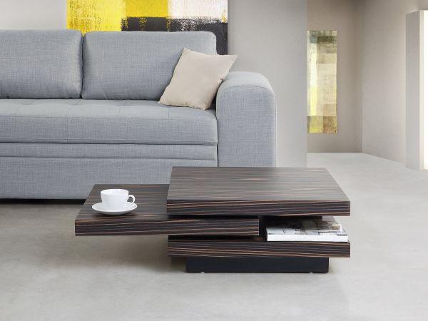 Vizela Swivel Coffee Table - Dark Wood