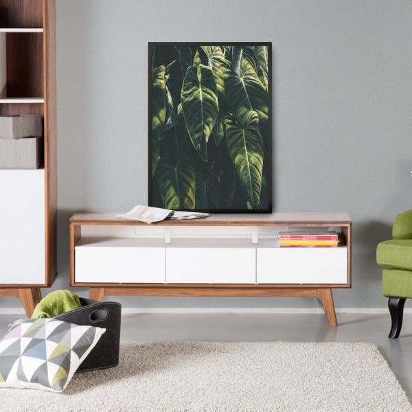 Syra TV Stand with drawers - Brown & White