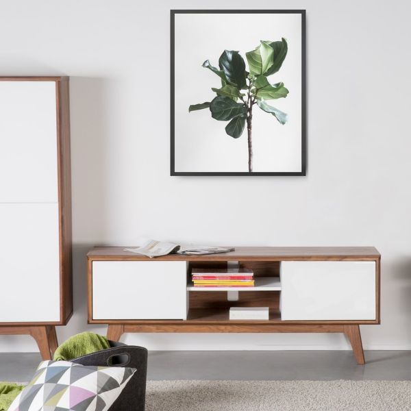 Roches TV Stand Cabinet with drawers - Brown and White