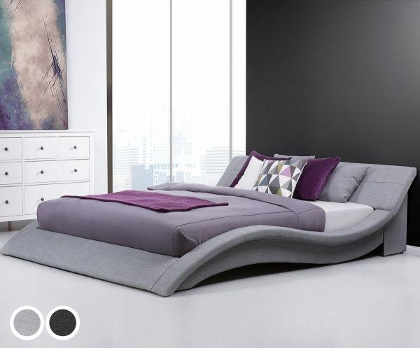 Vic Fabric Bed - Black & Grey