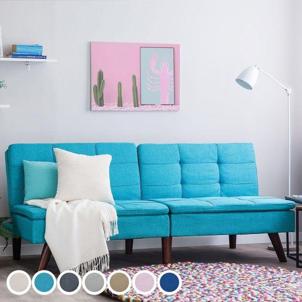 Rono Fabric Sofa Bed - 7 Colours