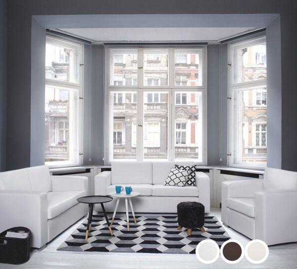 Helsin Leather Living Room Set - 3 Colours