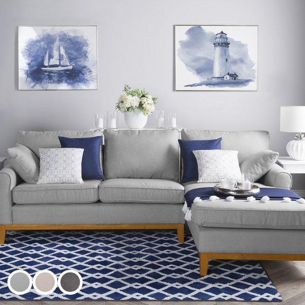Nex Fabric Corner Sofa - 3 Colours