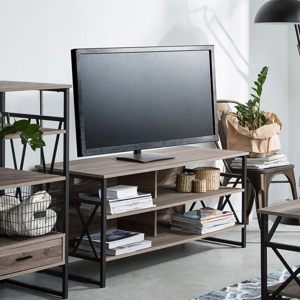 Carlie TV Stand with 4 Drawers - Brown
