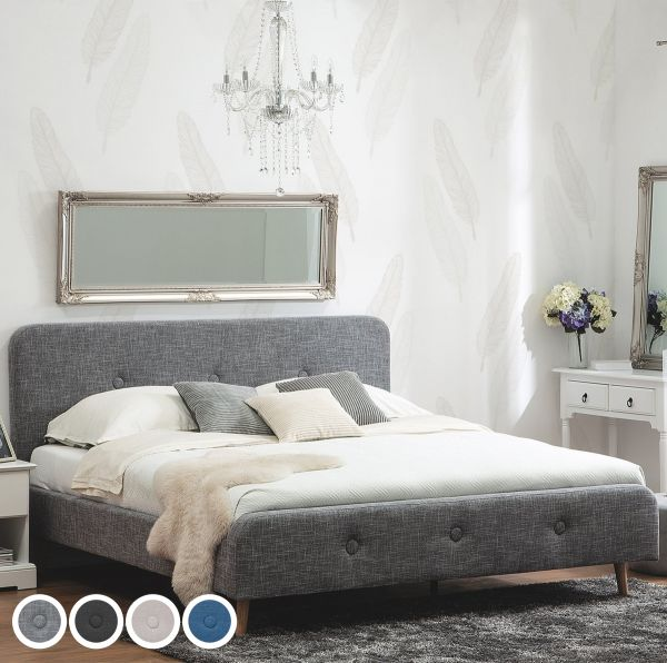 Senners Fabric Bed - 4 Sizes & Colours